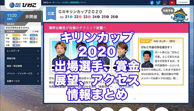 キリンカップ2020(びわこG3)アイキャッチ