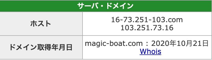 MAGICBOAT(マジックボート)1