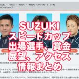 SUZUKIスピードカップ2021(浜名湖G3)アイキャッチ