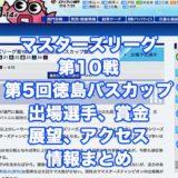 マスターズリーグ第10戦第5回徳島バスカップ競走2021(鳴門G3)アイキャッチ