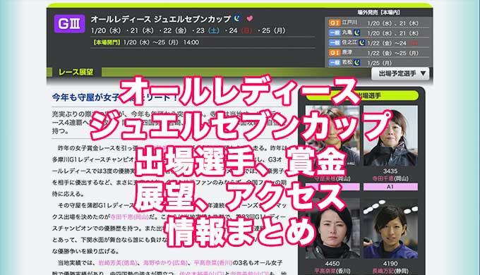 オールレディースジュエルセブンカップ2021(下関G3)アイキャッチ