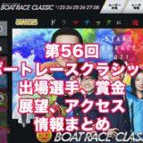 第56回ボートレースクラシック2021(福岡SG)アイキャッチ