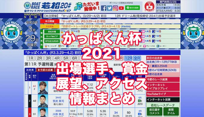 かっぱくん杯2021(若松競艇)アイキャッチ