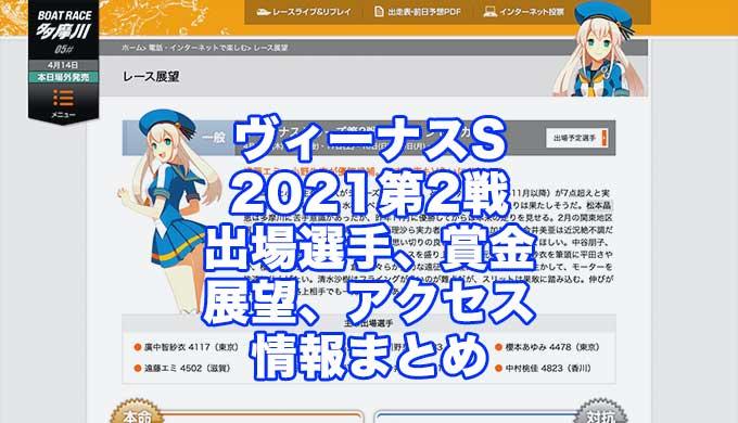 ヴィーナスシリーズ2021第2戦是政プリンセスカップ(多摩川競艇)アイキャッチ