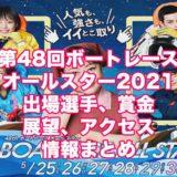 第48回ボートレースオールスター2021(若松SG)アイキャッチ
