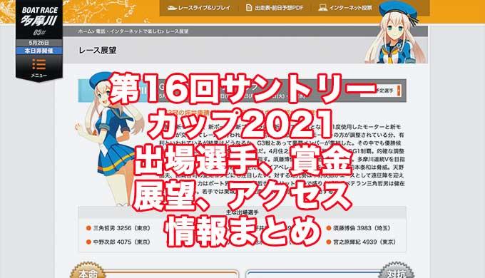 第16回サントリーカップ2021(多摩川G3)アイキャッチ