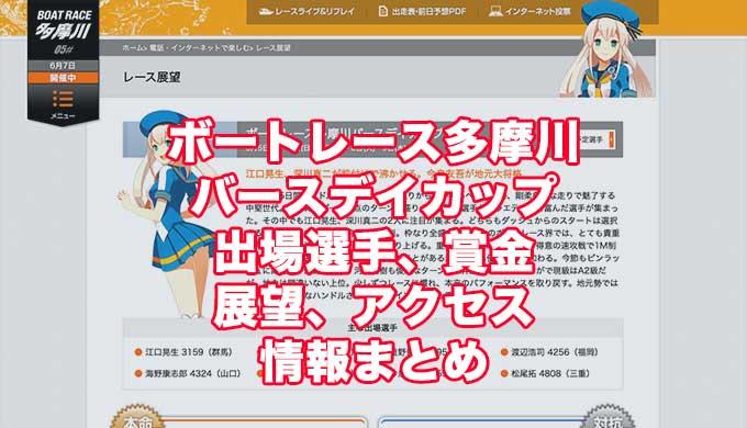 ボートレース多摩川バースデイカップ2021(多摩川競艇)アイキャッチ